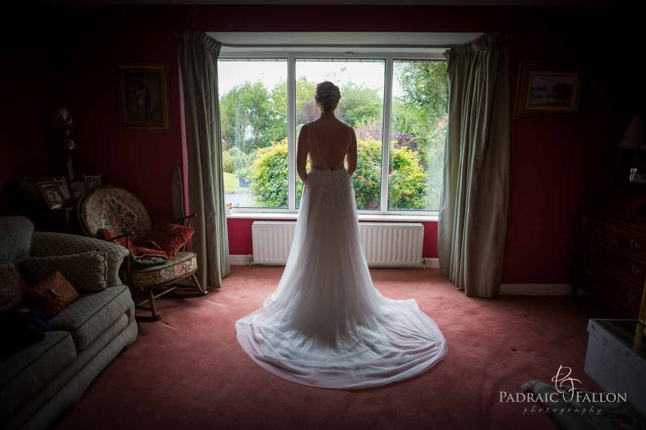 Bridal pose at a window in galway