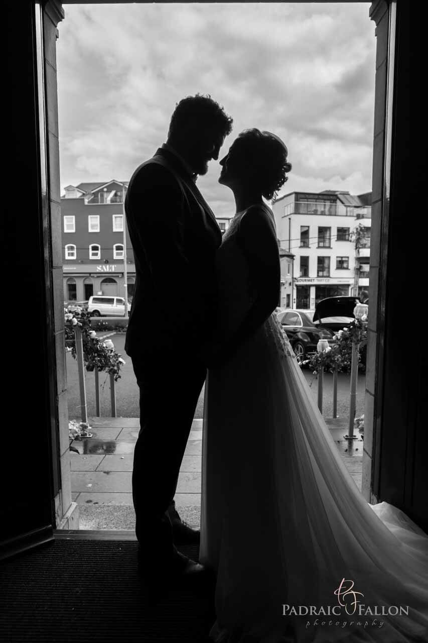 Wedding photography in galway at the doorway