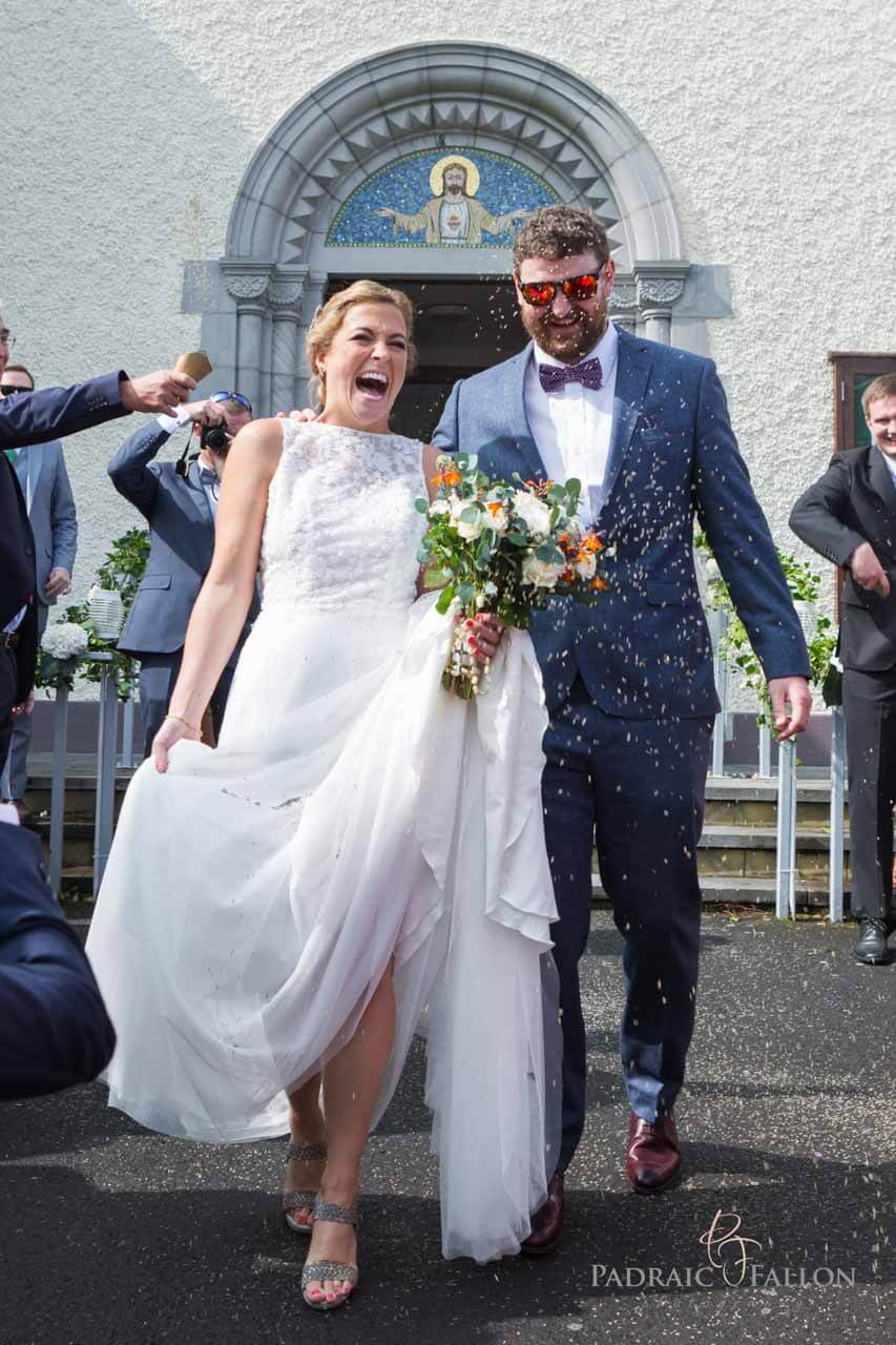 Confetti shot wedding photography Galway