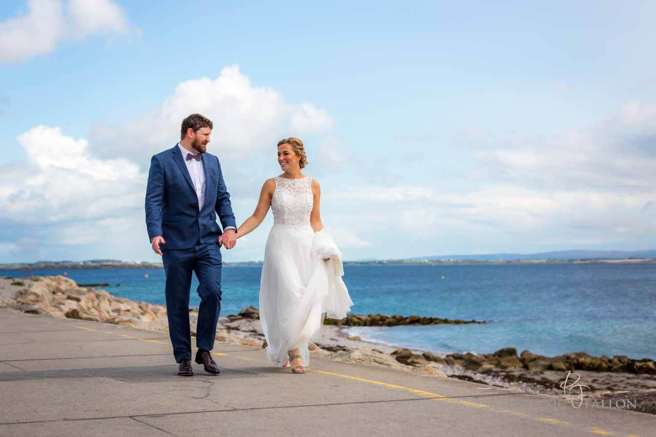Wedding photo Salthill prom Galway