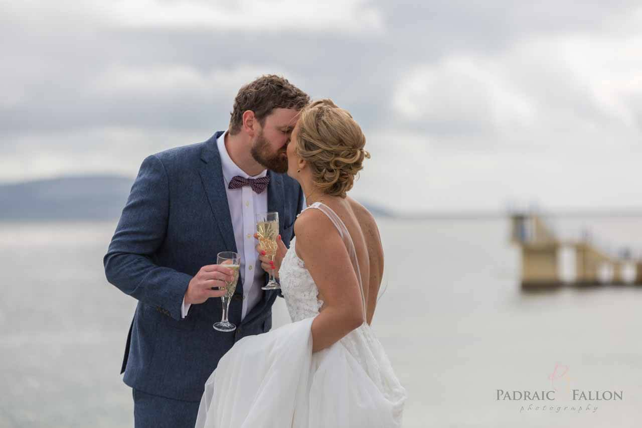 Wedding kiss in Galway photography