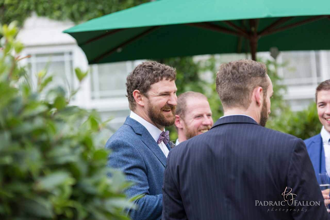 The Happy groom Photos on his galway wedding