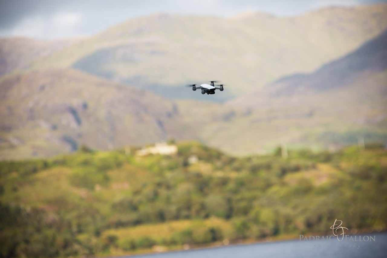 Wedding photography of a drone in Galway