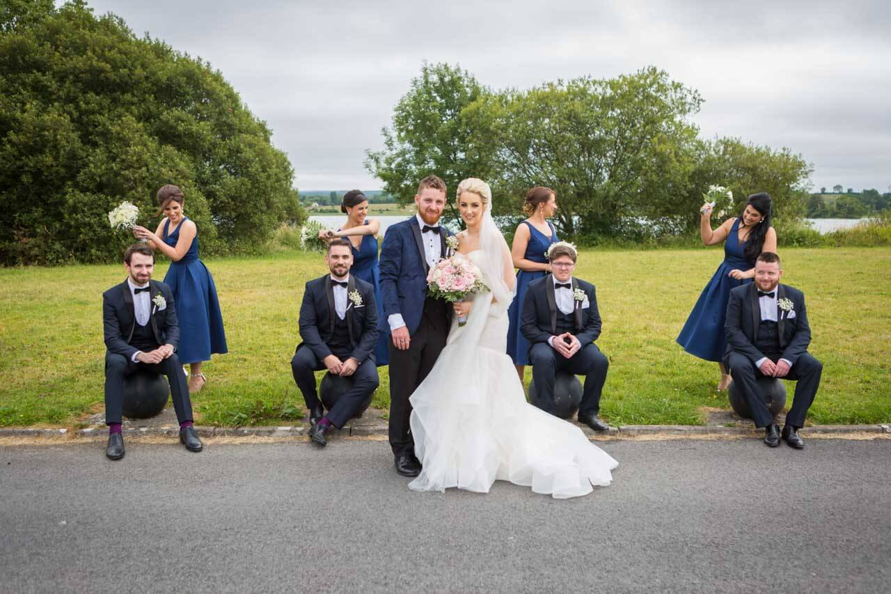Fun wedding photographer Galway