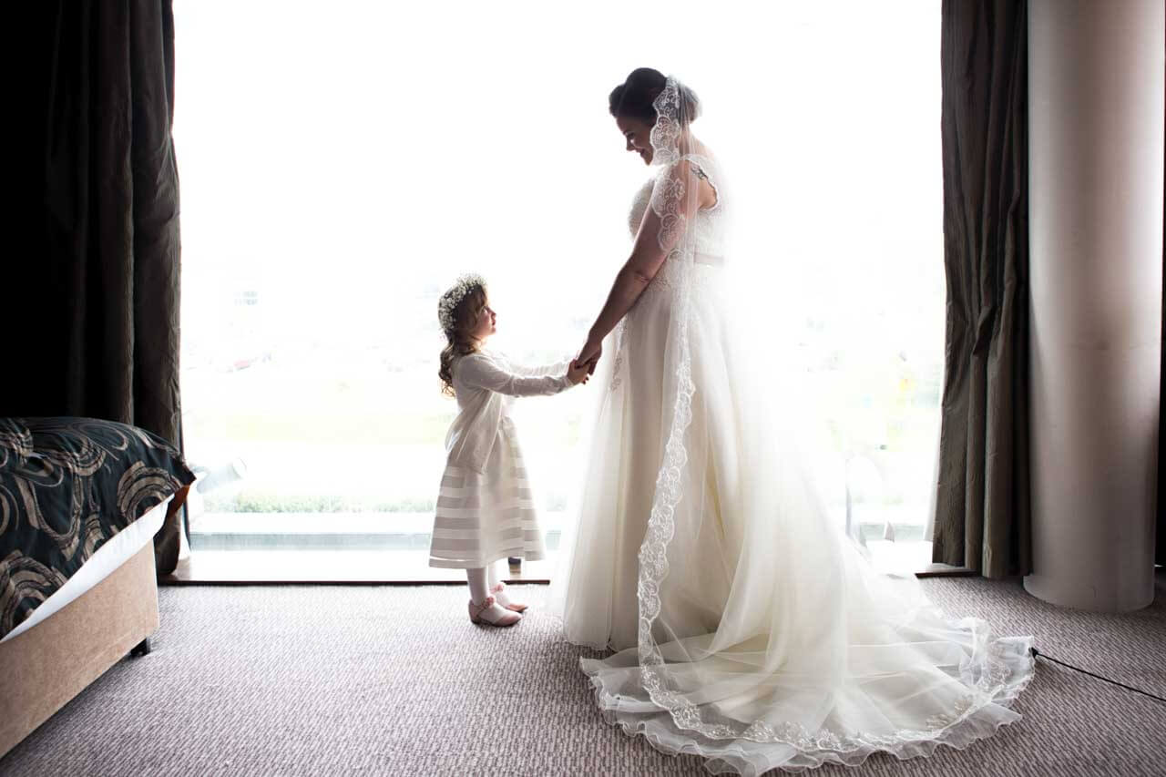 Bride and daughter photography