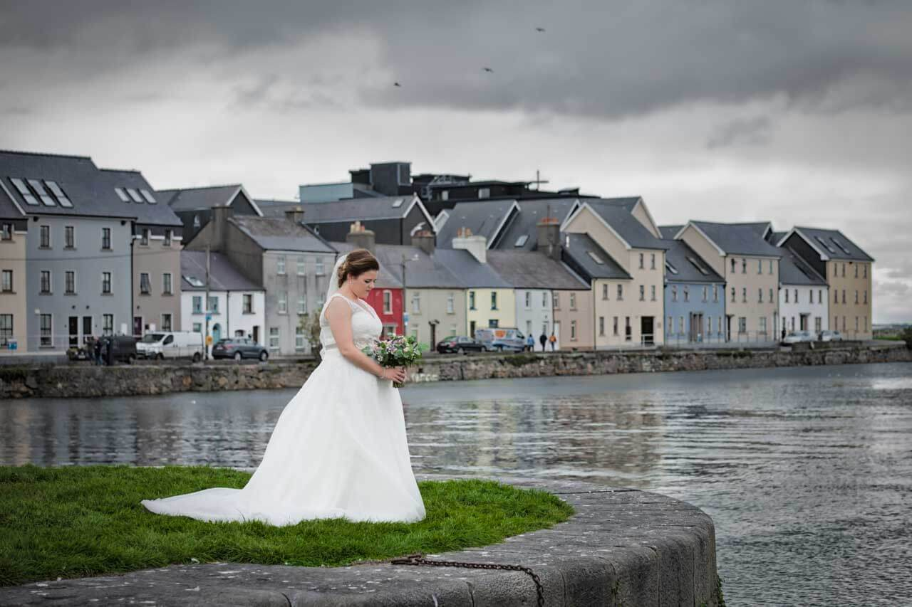 Wedding photographs at the Claddagh