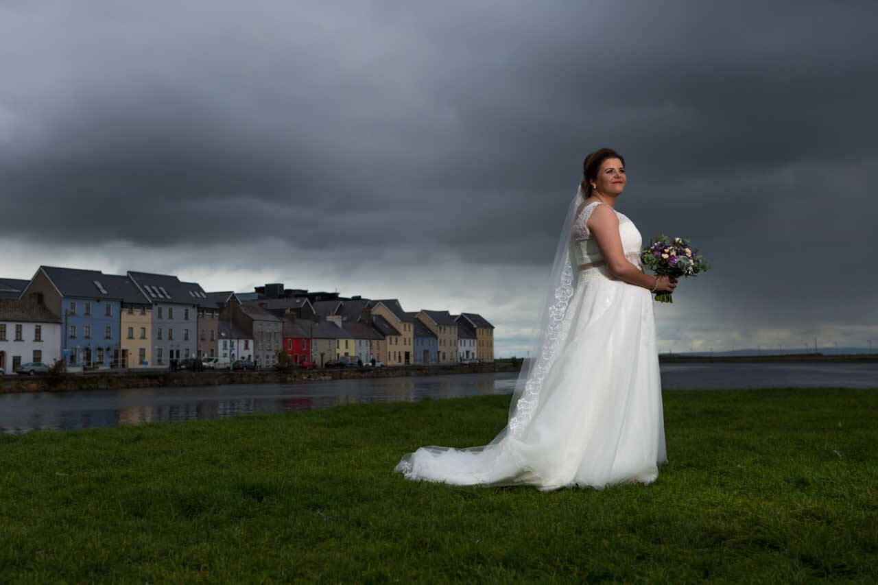 Wedding photography Off Camera flash Claddagh Galway