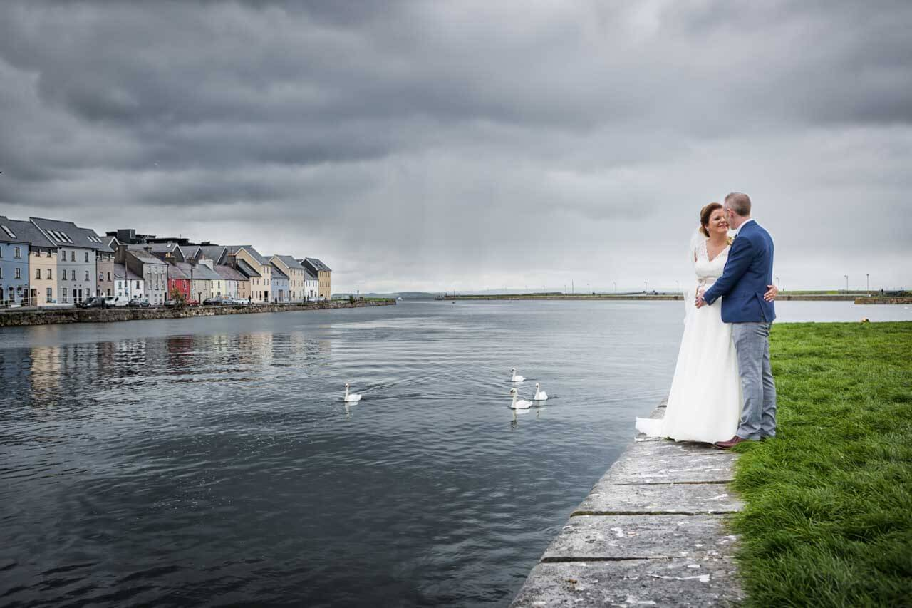 Galway wedding photography at the Claddagh