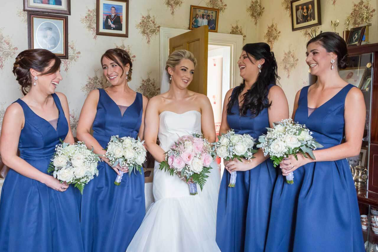 Bridesmaids all having fun